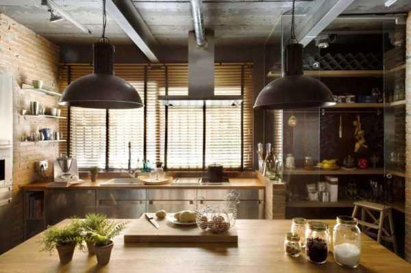 Кухня в стиле лофт маленькая - оригинальные идеи дизайна