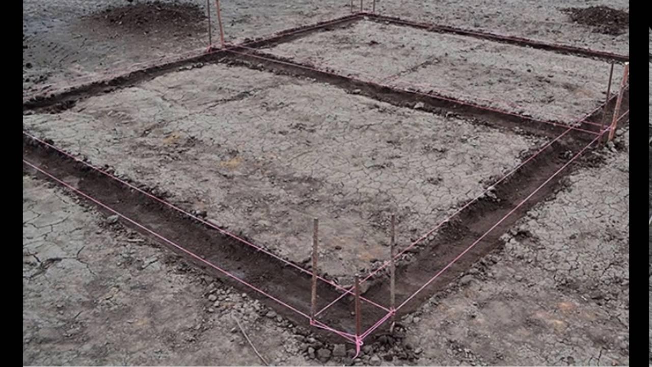 Как разметить фундамент под дом своими руками