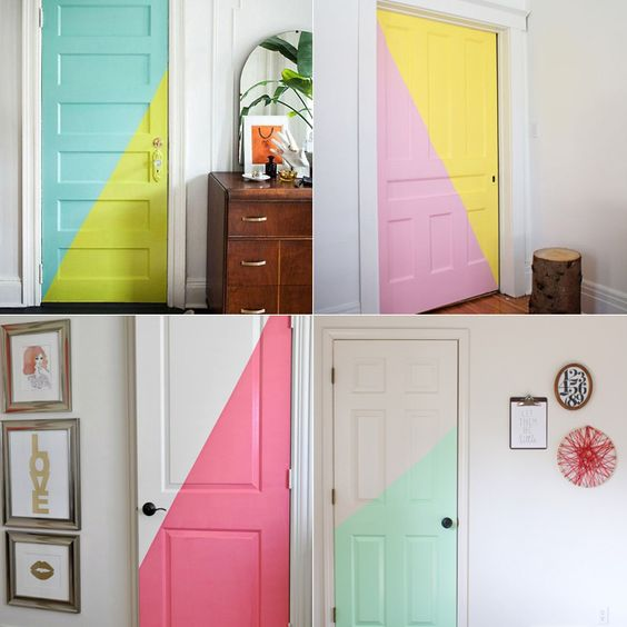 Декор старой двери своими руками: 12 красивых идей