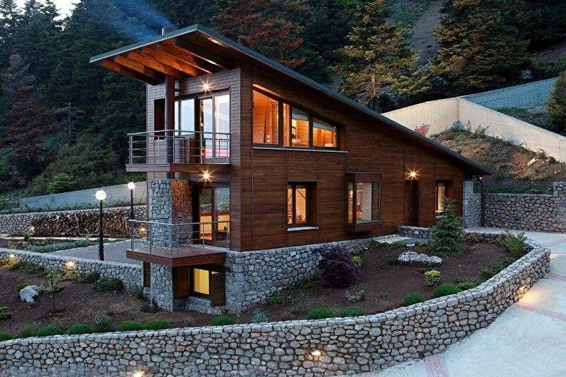 Проекты одноэтажных домов в стиле шале