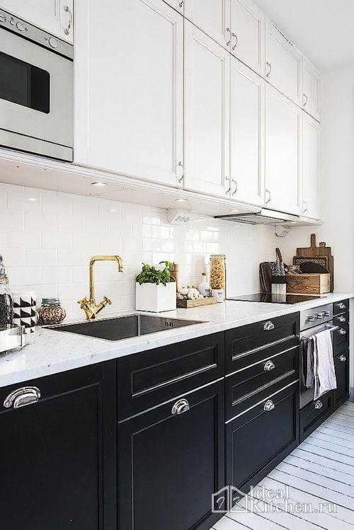 Белая кухня модерн: бежевый и другие светлые оттенки в стиле