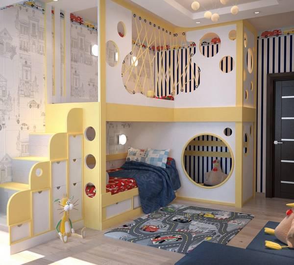 Кровать для троих детей — как организовать 3 и более спальных мест в одной комнате