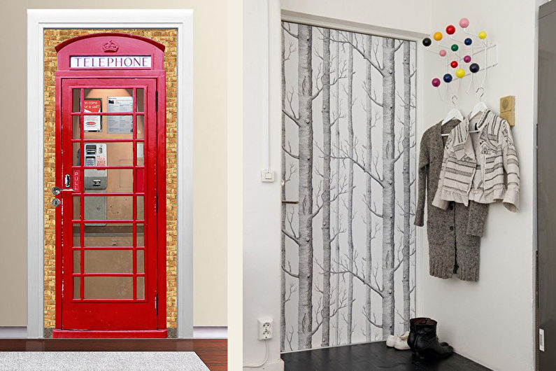 Декор межкомнатных и входных дверей своими руками - как украсить старую дверь изнутри - вдверь