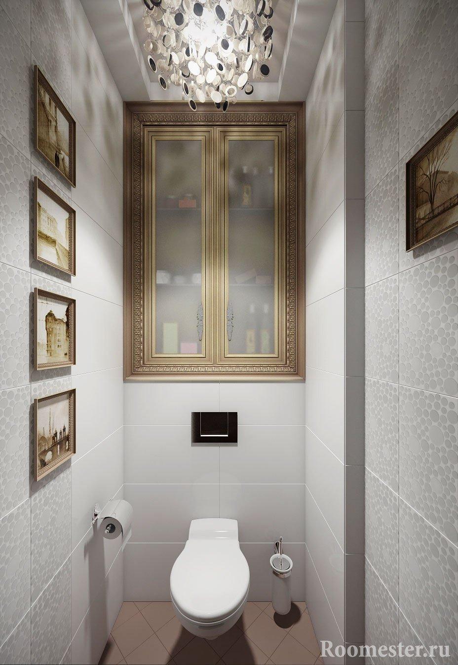 Варианты дизайна маленького туалета