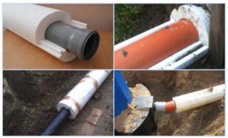 Утеплитель для труб канализации: виды, какой лучше, особенности применения