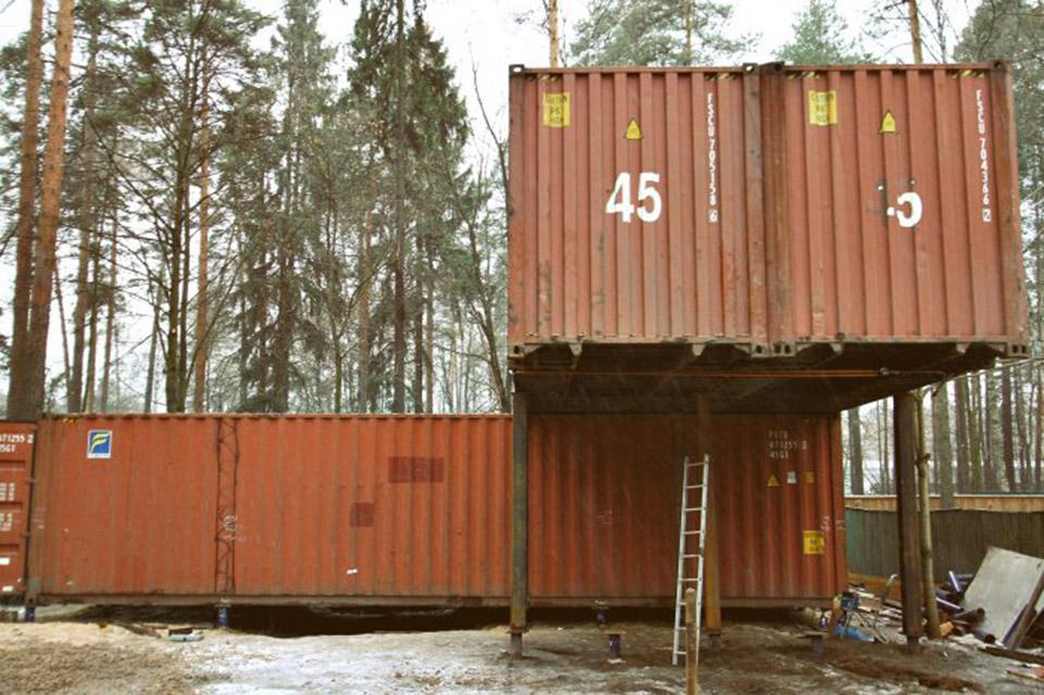 Жилой модульный дом из морских контейнеров, фото, проекты, цены