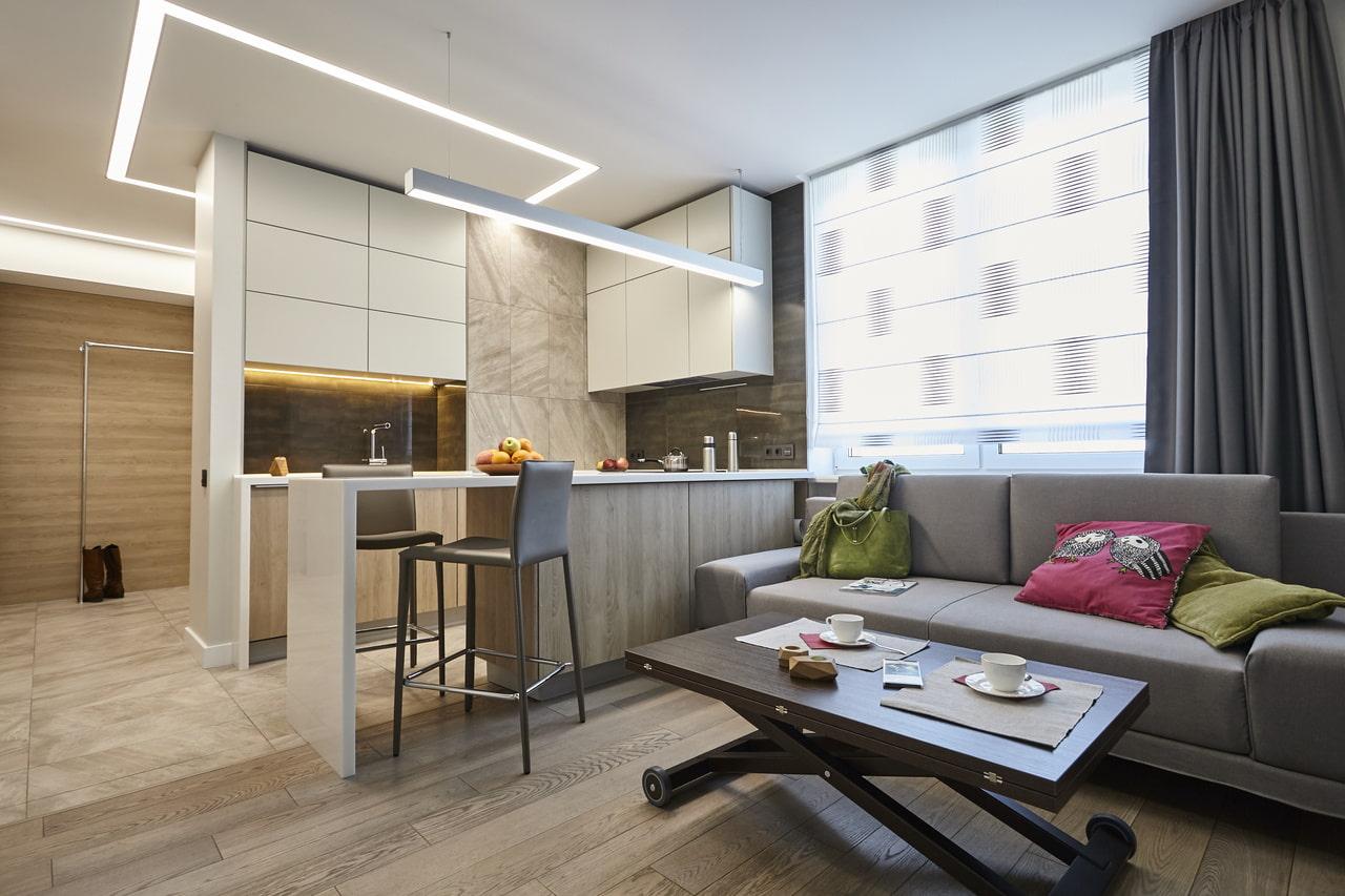 кухня 16 кв м дизайн фото