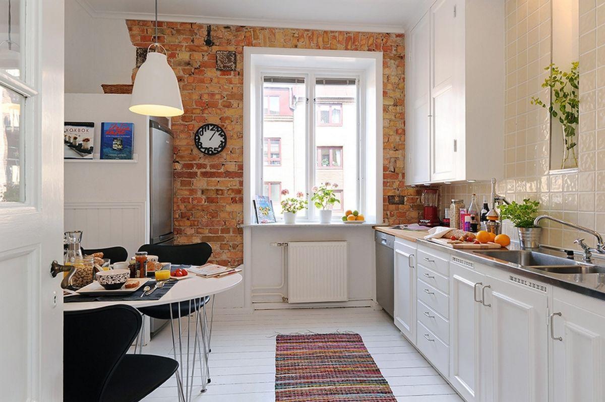 Кирпич на кухне: от отделки до создания кухонного гарнитура