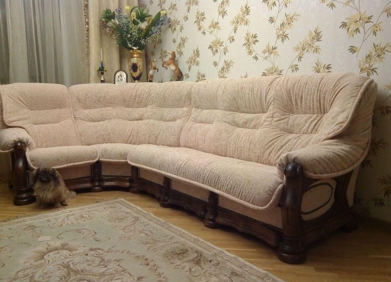 накидка на угловой диван своими руками