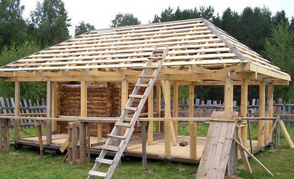 Конструкция стропильной системы вальмовой четырехскатной крыши, видео инструкция. одноэтажный дом с вальмовой крышей фото