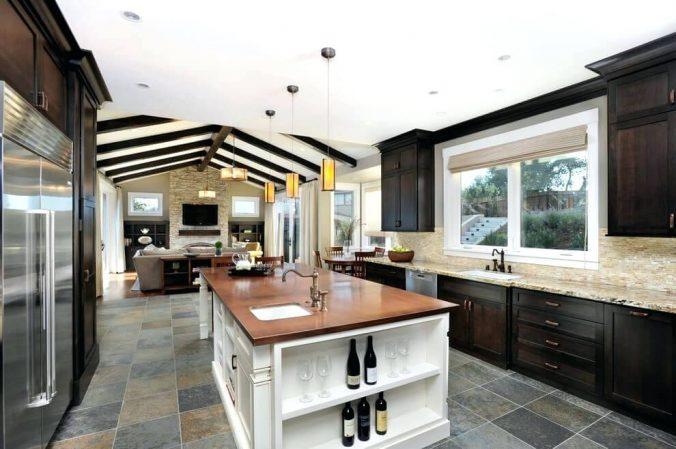 Идеи для дизайна кухни-столовой в частном доме
