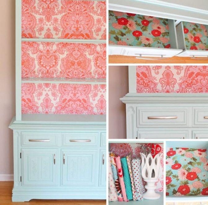 как украсить старый шкаф