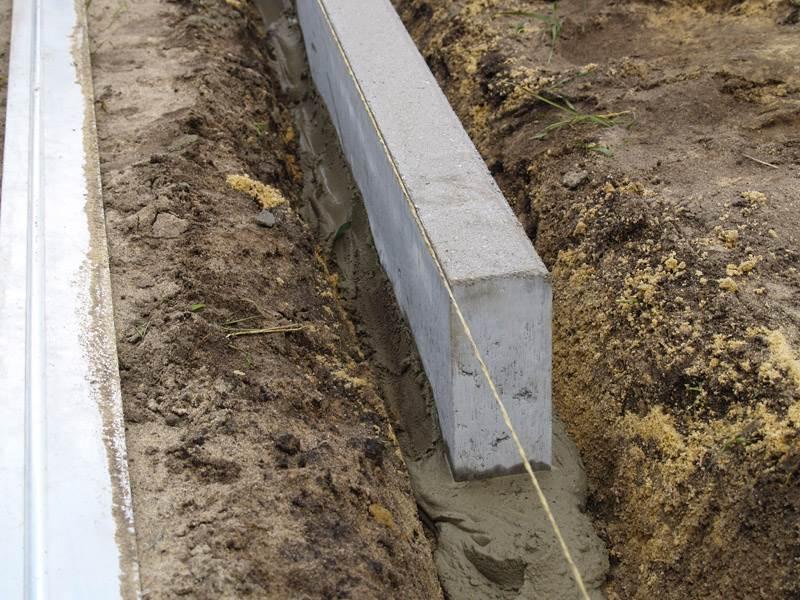 Как сделать бордюры для дорожек своими руками из цемента, бетона и других материалов