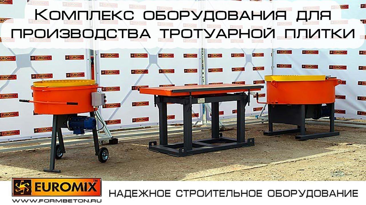 Производство тротуарной плитки: оборудование, технология, формы, бизнес-план