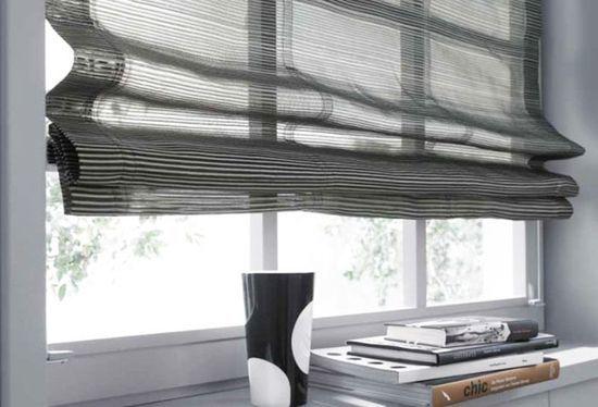 Как крепятся римские шторы — к пластиковому окну и к стене