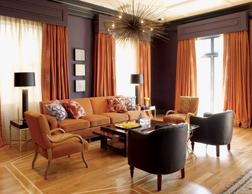 Оранжевый цвет в интерьере — сочетания и варианты дизайна