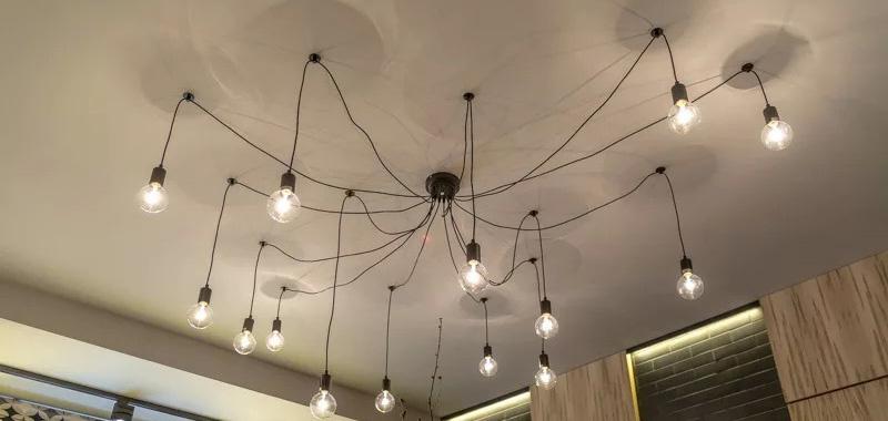 лампа паук
