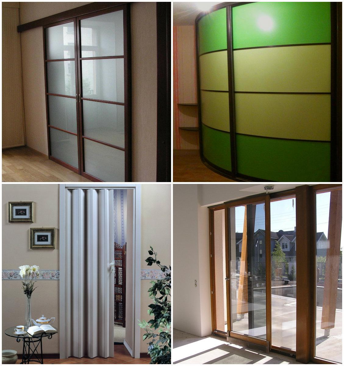 Раздвижные межкомнатные двери +75 фото: варианты в стену, вдоль