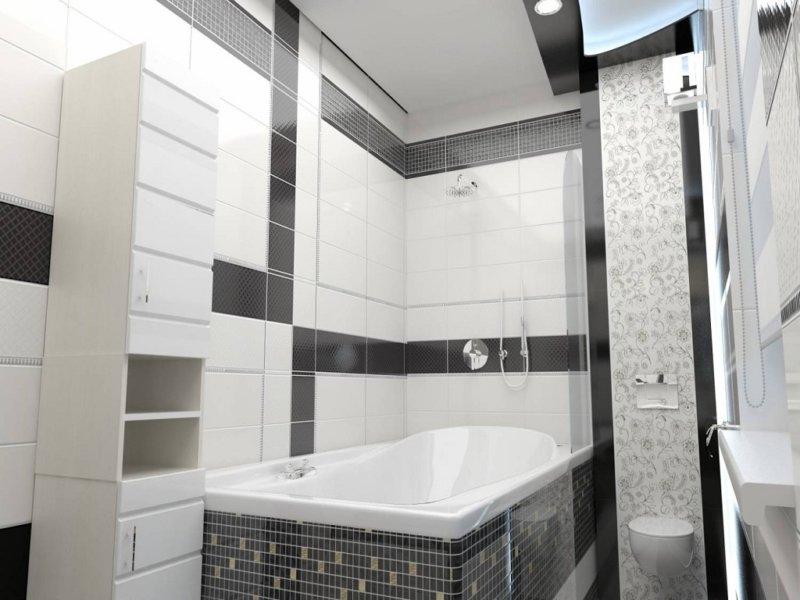дизайн комнаты в черно белых тонах