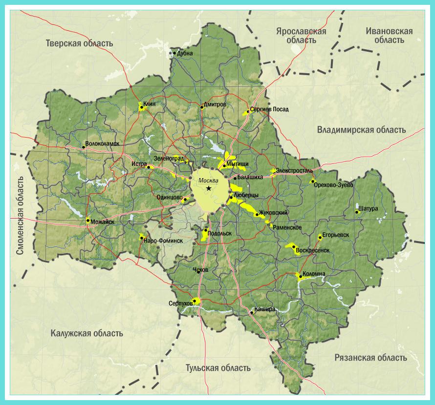 карта почв московской области