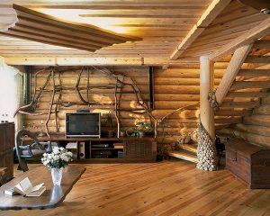 внутренняя отделка деревянного дома в современном стиле