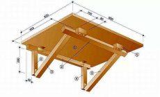 Откидной столик своими руками на балкон: как выбрать стенной крепеж, из чего сделать, как установить и обеспечить долгое функционирование