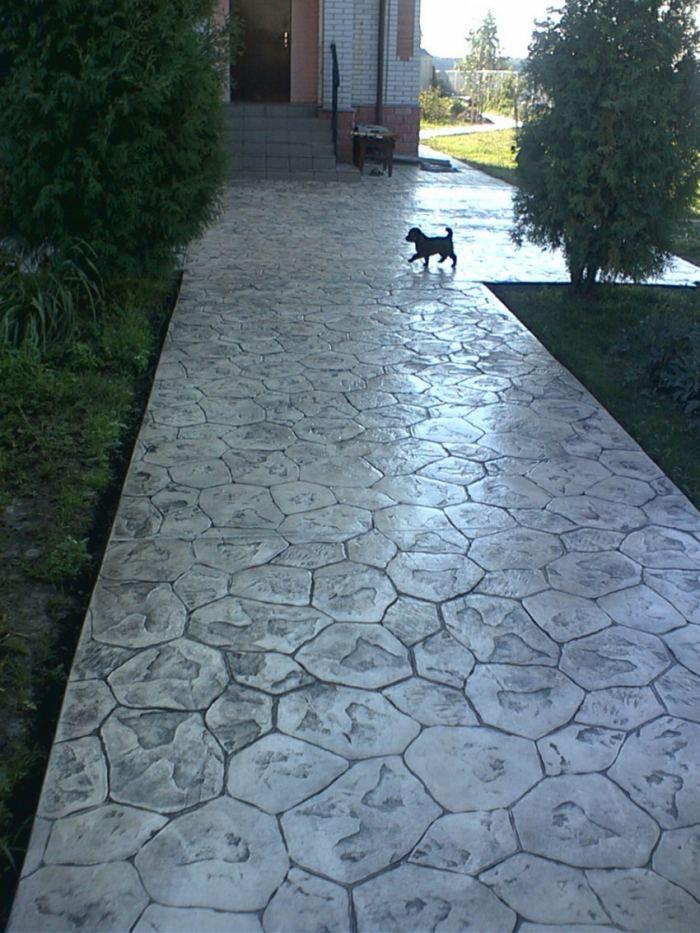 бетонные дорожки на даче своими руками