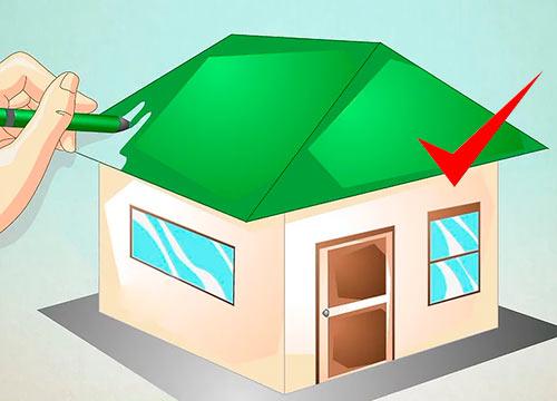 как можно нарисовать дом