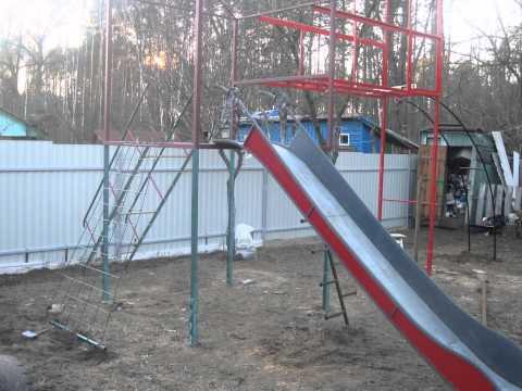 Детские горки для дачи/площадки: безопасность, конструкция, изготовление самостоятельно