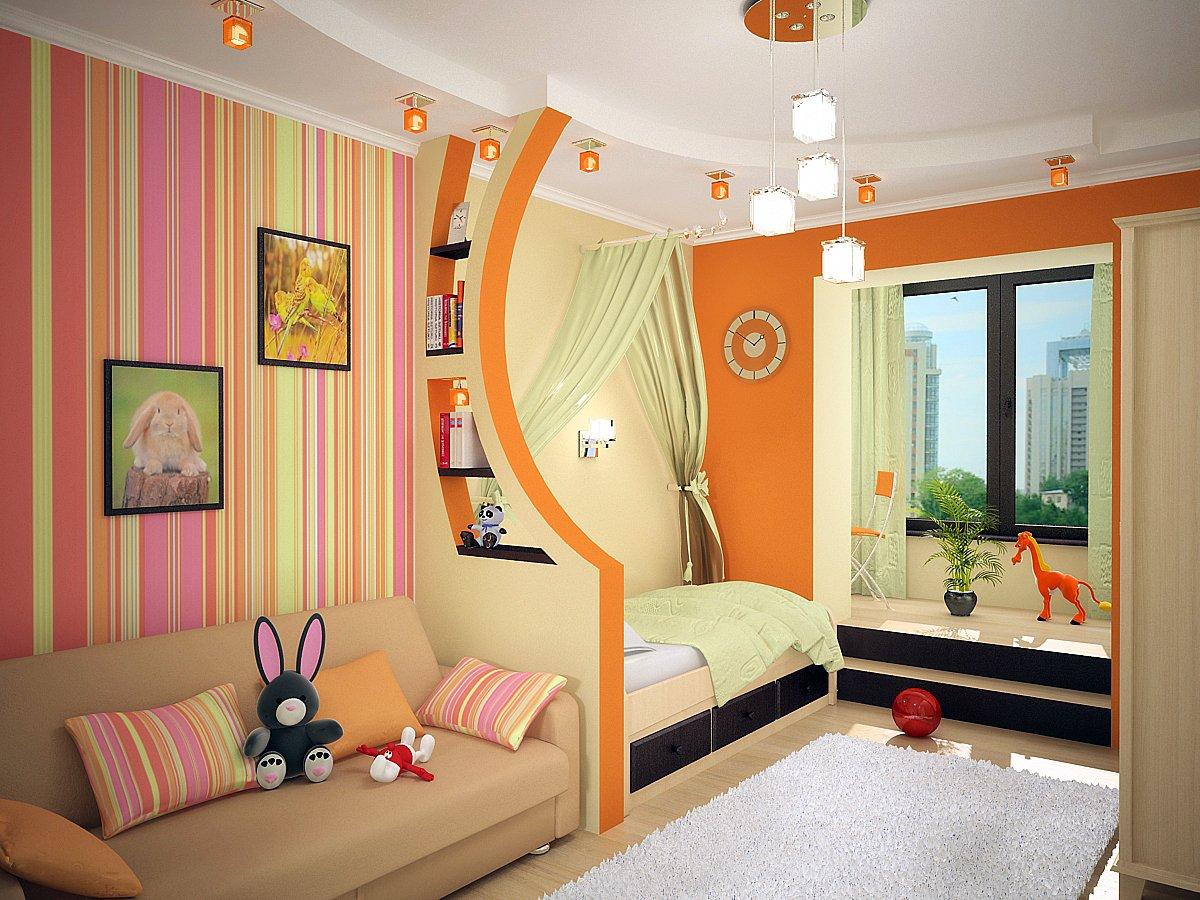Переделка гостиной в детскую и современный дизайн