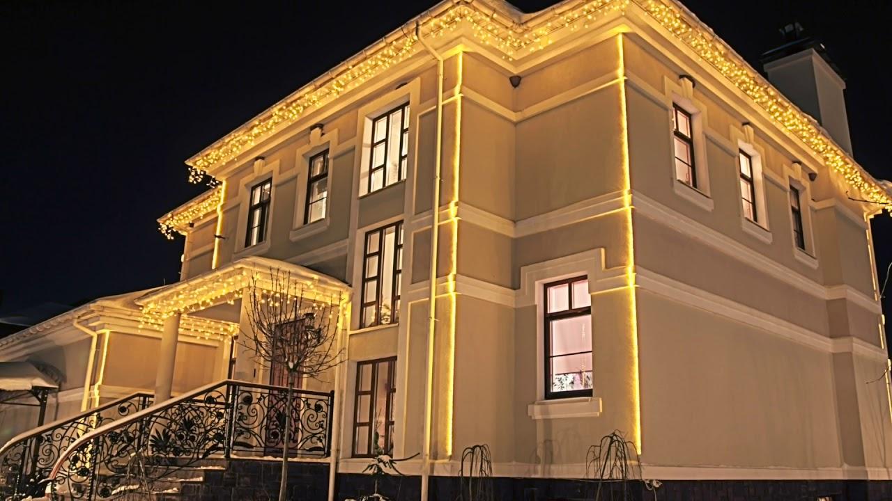 Как выбрать и закрепить гирлянду на фасаде дома: лучшие советы и способы монтажа новогоднего освещения