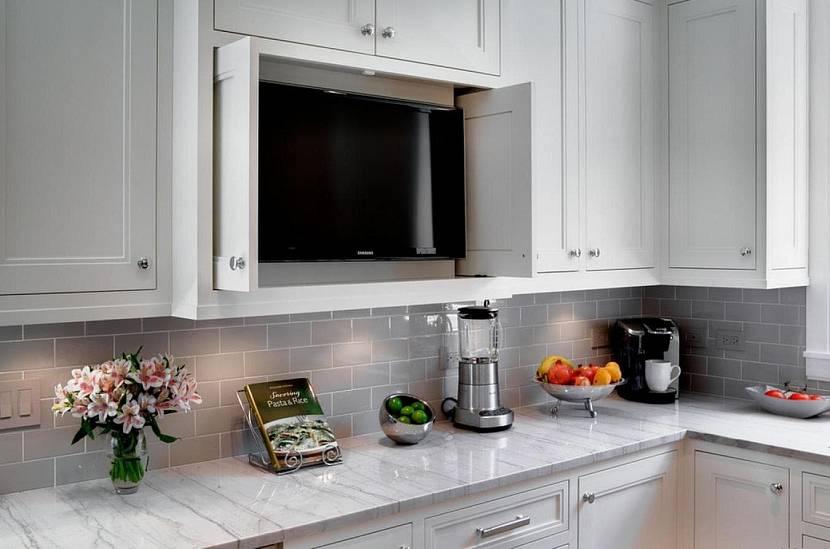 телевизор на кухне варианты