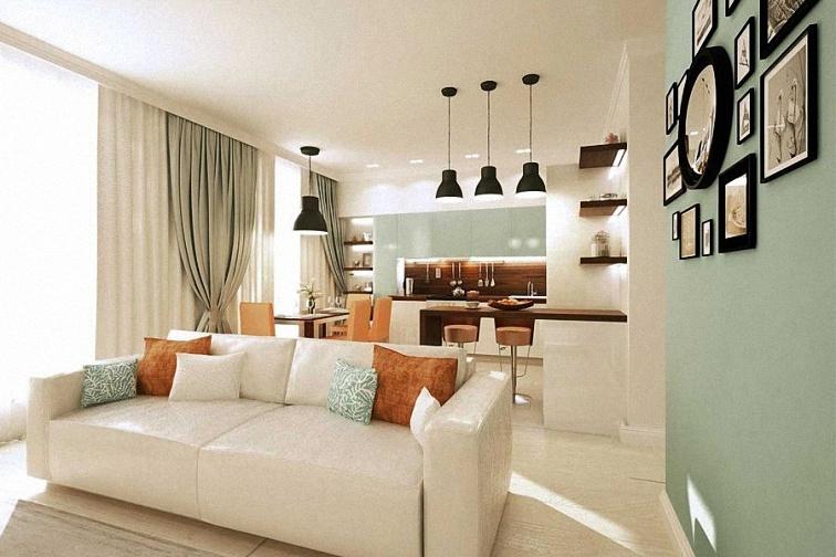 Дизайн двухкомнатной квартиры 65 кв. м.
