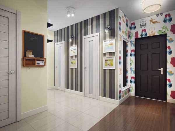Обои для коридора, расширяющие пространство (36 фото): модели для узкой и длинной прихожей в квартире