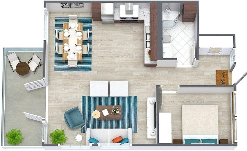 современные одноэтажные дома