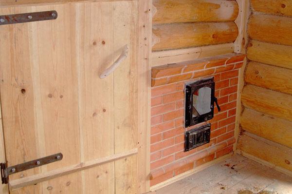 Защитный экран для печи в бане   строительство бани