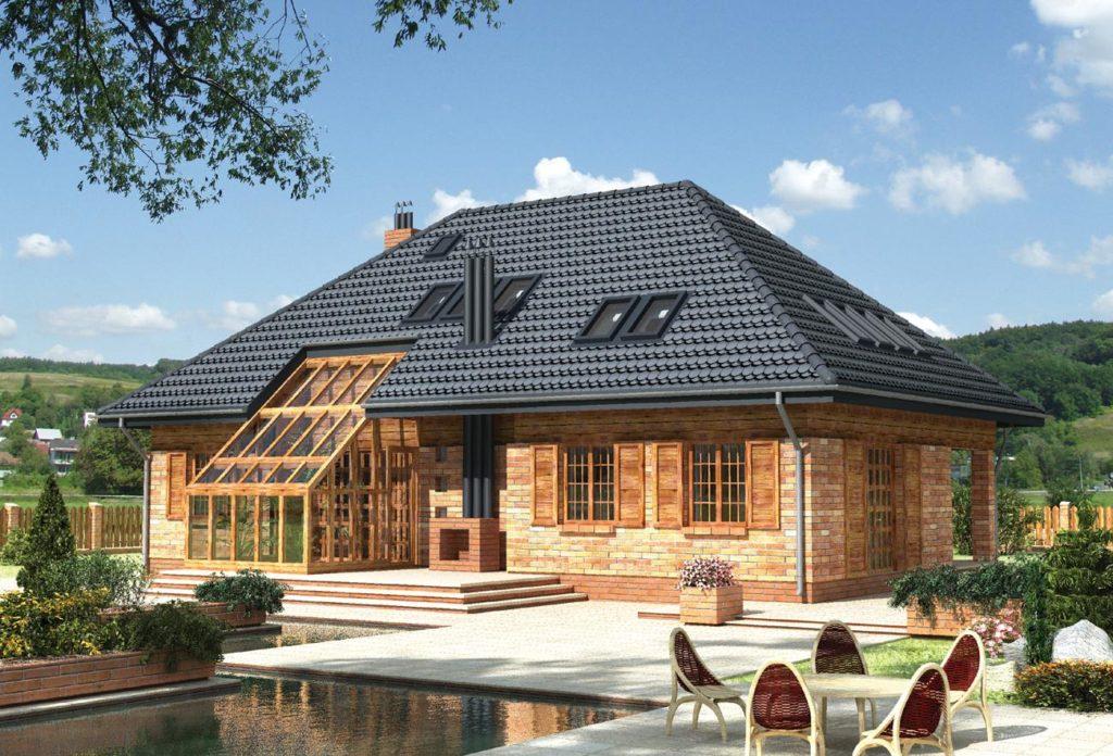вальмовая крыша фото одноэтажных домов
