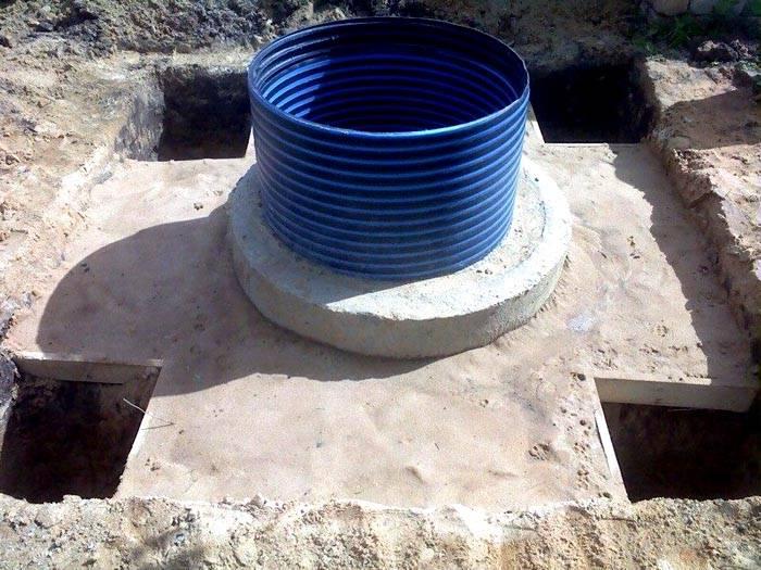 полимерно песчаные кольца для колодца
