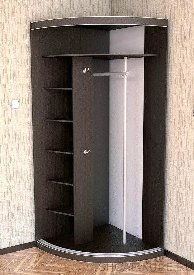 Радиусный шкаф-купе в прихожую