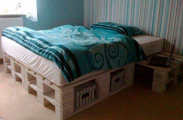 Кровати из деревянных паллетов: ключевые особенности