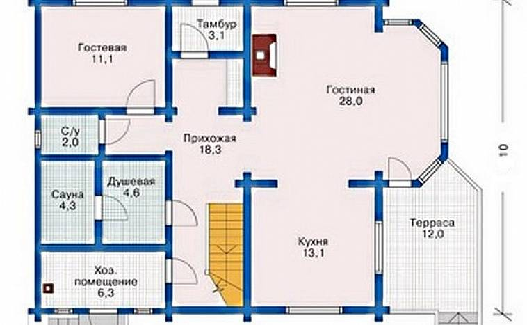 бесплатные проекты одноэтажных домов