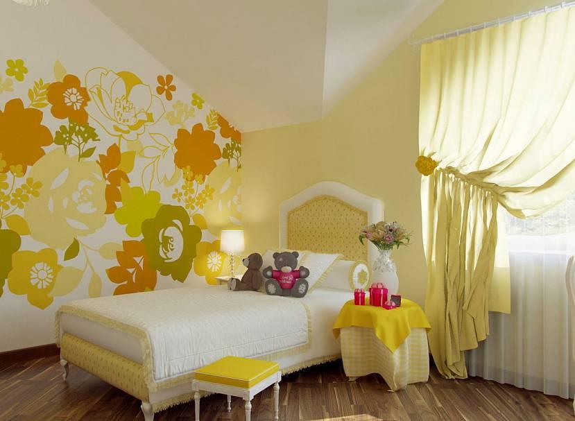 Желтые шторы - 55 фото необычных дизайнерских решений в интерьере