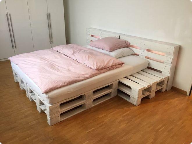 Кровать из паллет своими руками - лучшие идеи + мастер-класс!