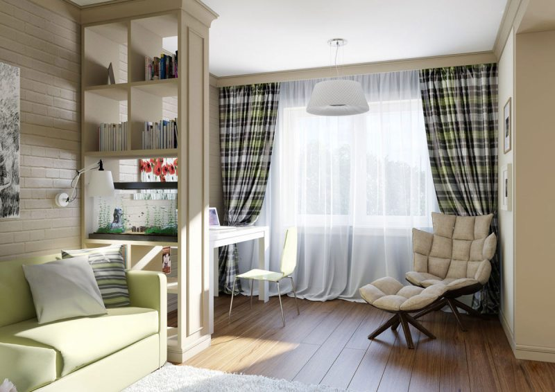 шторы в маленькую комнату