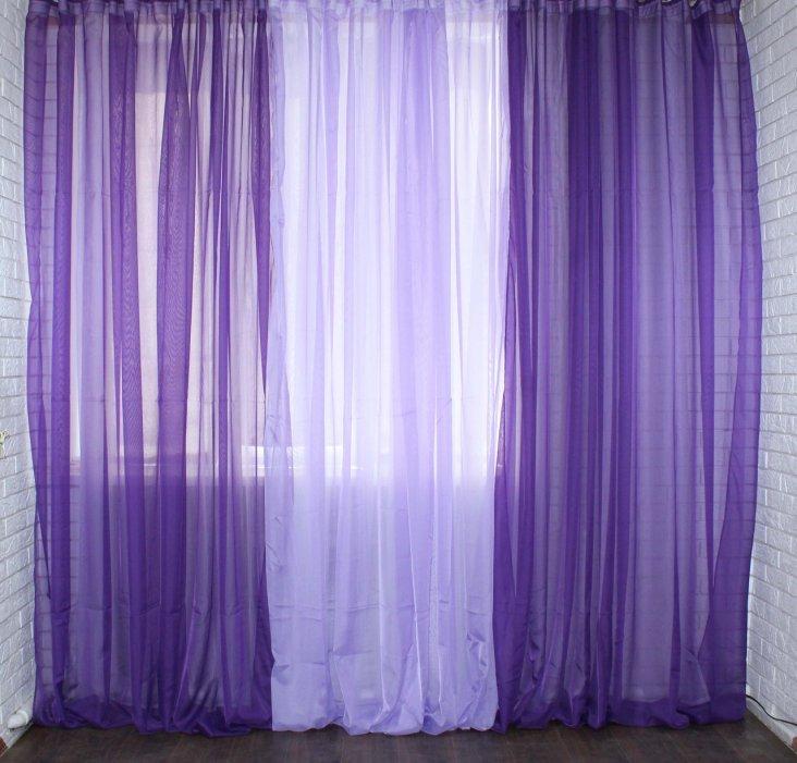 Сиреневые шторы - советы по дизайну и фото примеры