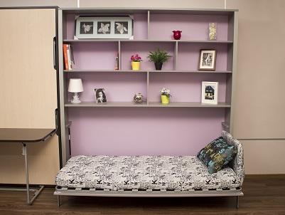 подъемная кровать шкаф