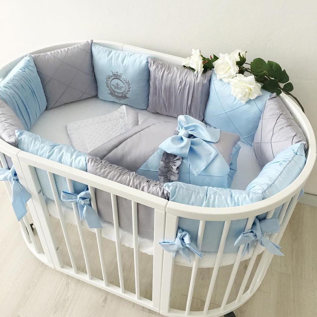 Бортики в кроватку — как выбрать комплекты бамперов в кроватку для новорожденных (75 фото)