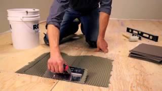 Укладка плитки на деревянный пол: как положить кафель на фанеру на кухне и можно ли