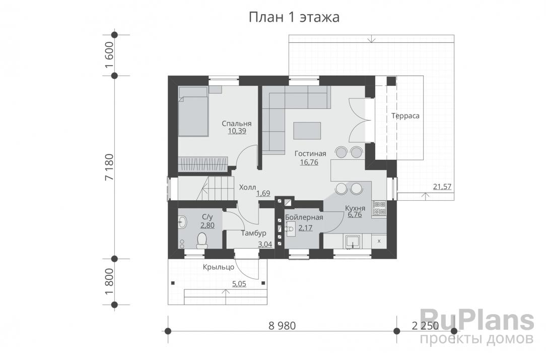 Проекты домов 8 на 8: планировки одноэтажных, двухэтажных с фото