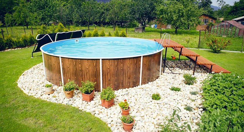 Как построить бассейн на даче: красивые варианты в ландшафтном дизайне